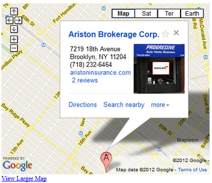Directions to Ariston Brokerage Corp.